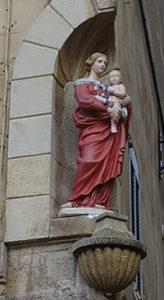 Remise de la statue place des Cardeurs